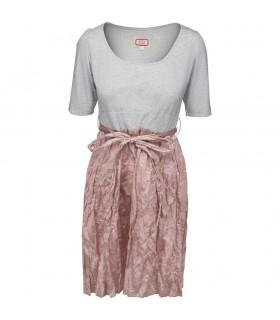 Avoca - 2delt silke kjole lyserød