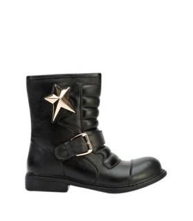 Sort støvle med stjerne
