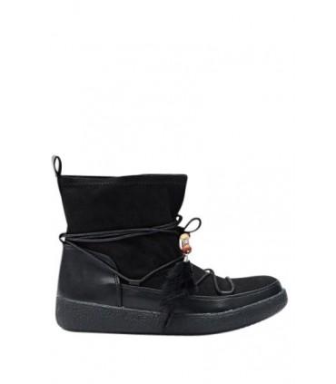Sort mokkasin støvle