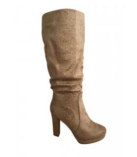 Luxstore brune støvler med perler