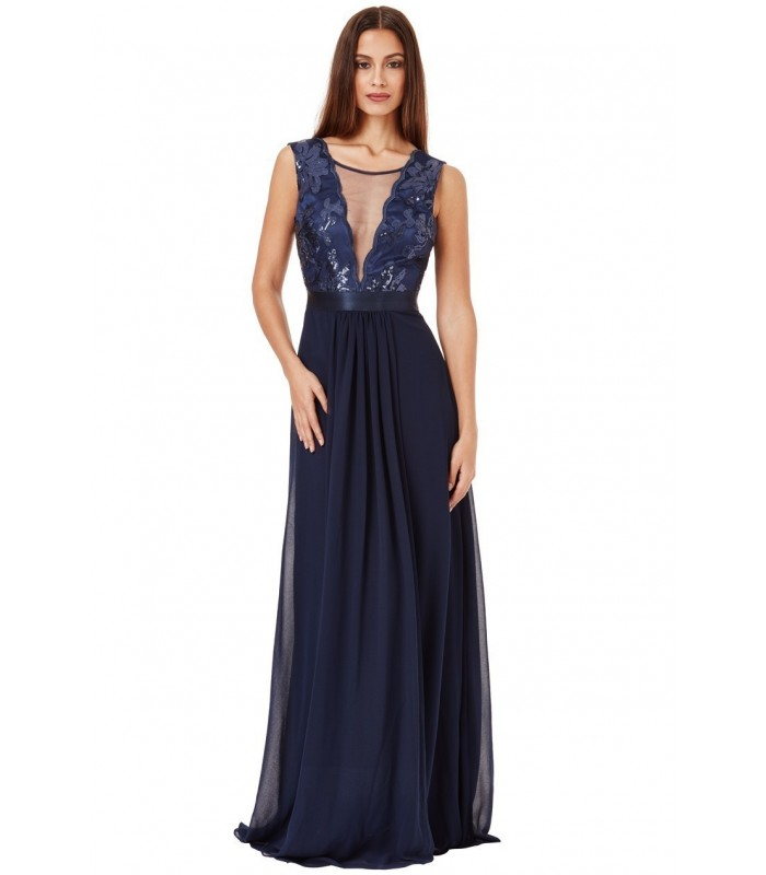 navy blå kjole