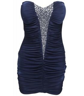 Goddess navy blå kjole
