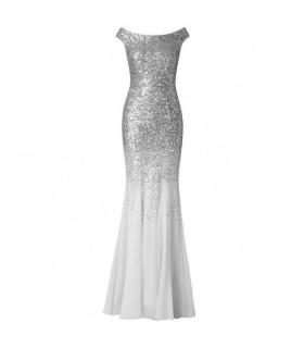Stephanie Pratt sølv chiffon kjole