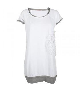 Uldahl lang hvid t-shirt