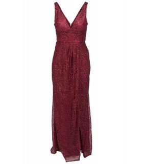 Lucy Wang rød glimmer kjole