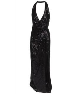 Goddess halterneck kjole med slids