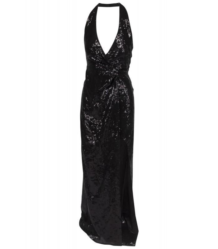 e649d34c09fe Goddess halterneck kjole med slids - 599