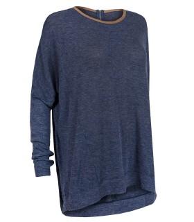 Luxstore oversize bluse blå
