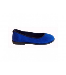 SHOESHOE blå ballarina med kant