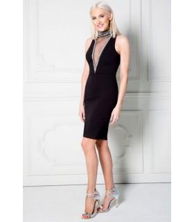 Goddess Stephanie Pratt midi kjole med V