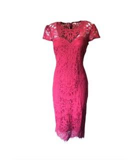 Goddess rød kappe midi kjole
