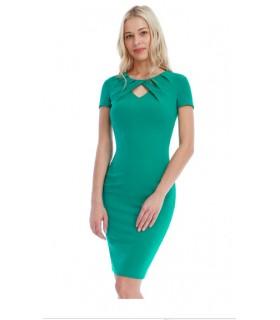 Goddess grøn keyhole midi kjole
