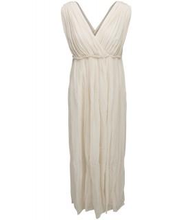 Mes Demoiselles lang beige kjole