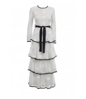 Actuel hvid lang kjole