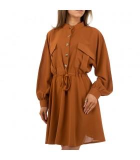 Paris Fashion JCL camel skjortekjole
