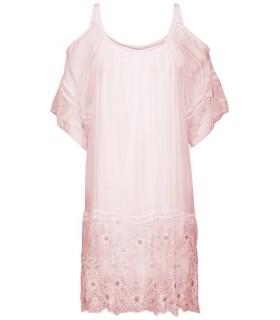 Luxstore lyserød silkekjole