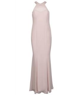 Goddess lang lyserød gallakjole