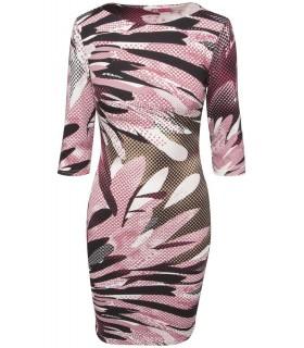 Goddess - midi kjole med lyserød