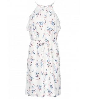 Love 77-1 hvid blomstret kjole