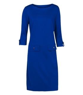 Blå jersey kjole