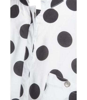 Hvid silkeskjorte