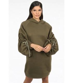Oversize hoodie khaki