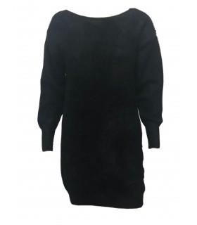 Unigirl sort bluse med sløjfer