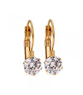 Luxstore stor krystal ørering guld