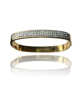 Aqua Dulce lille firkantet bredt armbånd guld