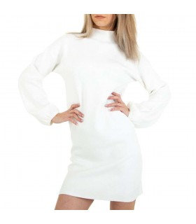 Glo-Story hvid minikjole